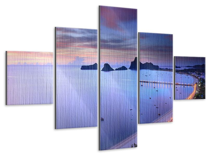Metallic-Bild 5-teilig Ano Manao Bucht
