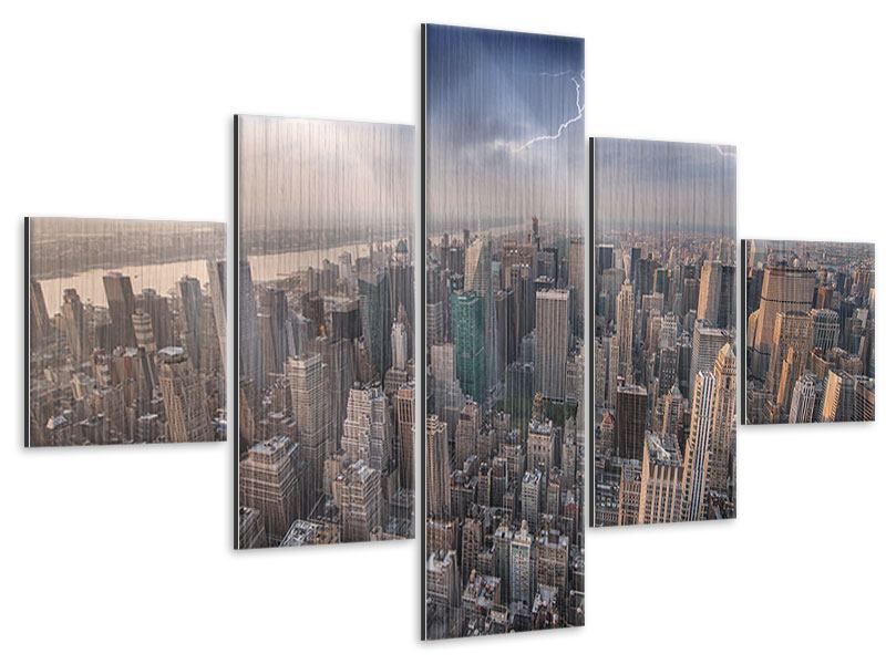 Metallic-Bild 5-teilig Manhattan