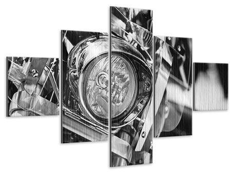 Metallic-Bild 5-teilig Motorrad Close Up
