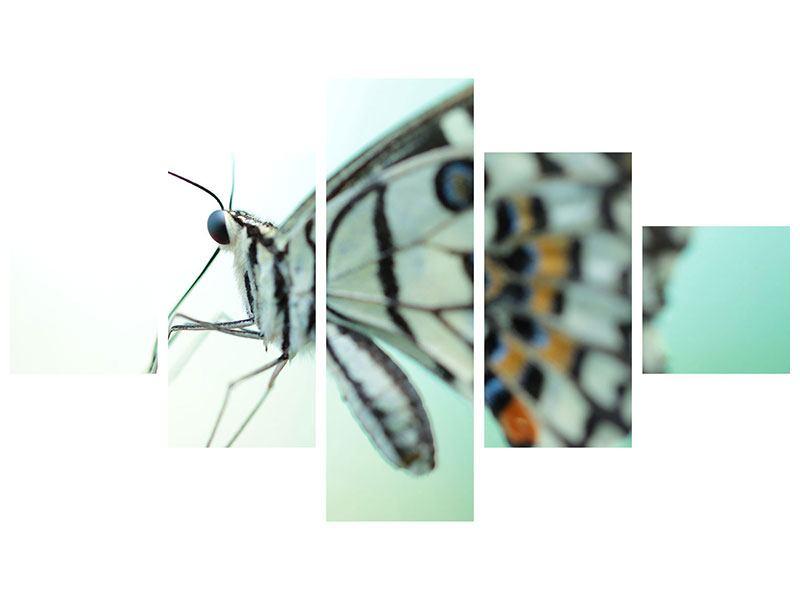 Metallic-Bild 5-teilig Schmetterling XXL