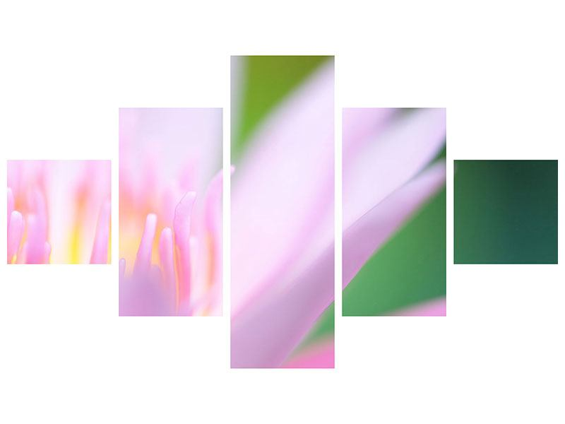 Metallic-Bild 5-teilig XXL-Lilie