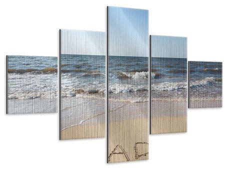 Metallic-Bild 5-teilig Sandspuren