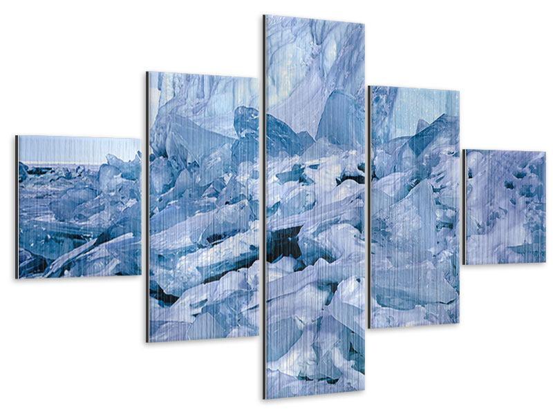 Metallic-Bild 5-teilig Eislandschaft Baikalsee