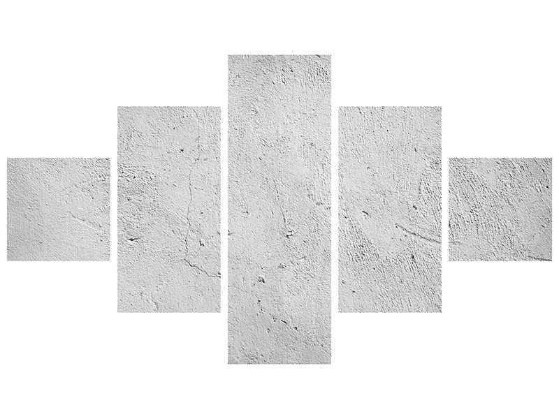 Metallic-Bild 5-teilig Beton