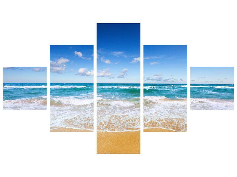 Metallic-Bild 5-teilig Die Gezeiten und das Meer