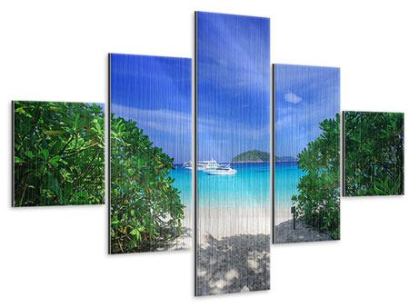 Metallic-Bild 5-teilig Similan-Inseln