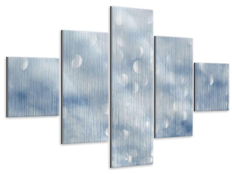 Metallic-Bild 5-teilig Kristallglanz