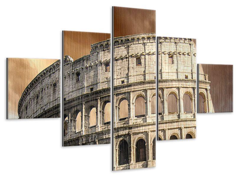Metallic-Bild 5-teilig Kolosseum Rom