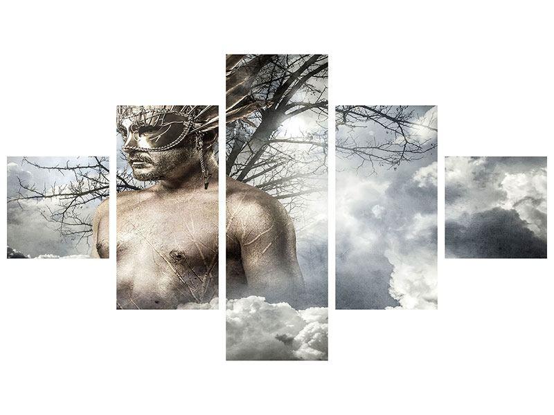 Metallic-Bild 5-teilig Gottheit