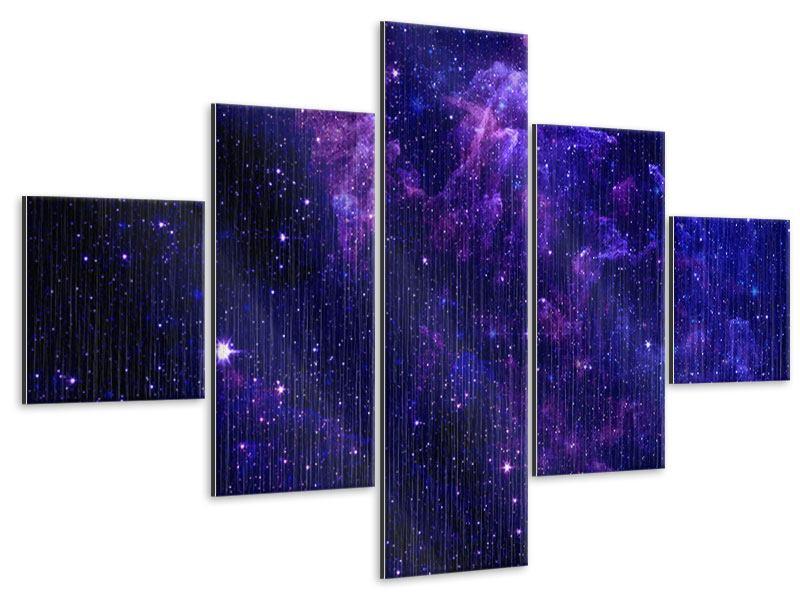 Metallic-Bild 5-teilig Ein Himmel voll Sterne