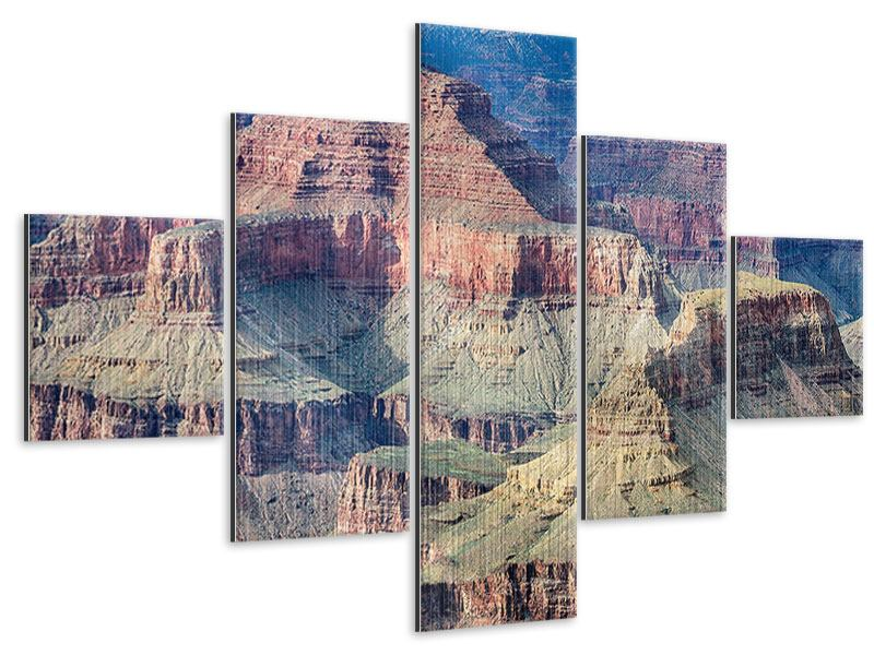 Metallic-Bild 5-teilig Gran Canyon