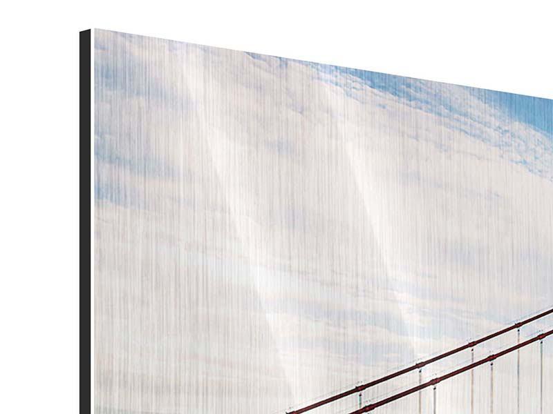 Metallic-Bild 5-teilig Golden Gate Bridge