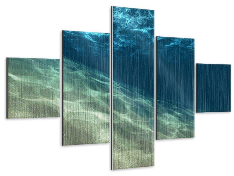 Metallic-Bild 5-teilig Unter dem Wasser