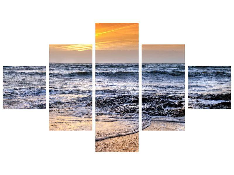 Metallic-Bild 5-teilig Das Meer