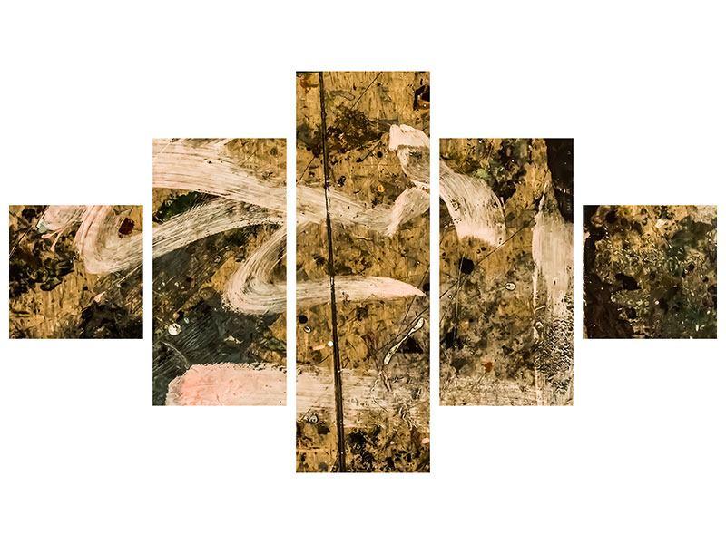 Metallic-Bild 5-teilig Writing On The Wall