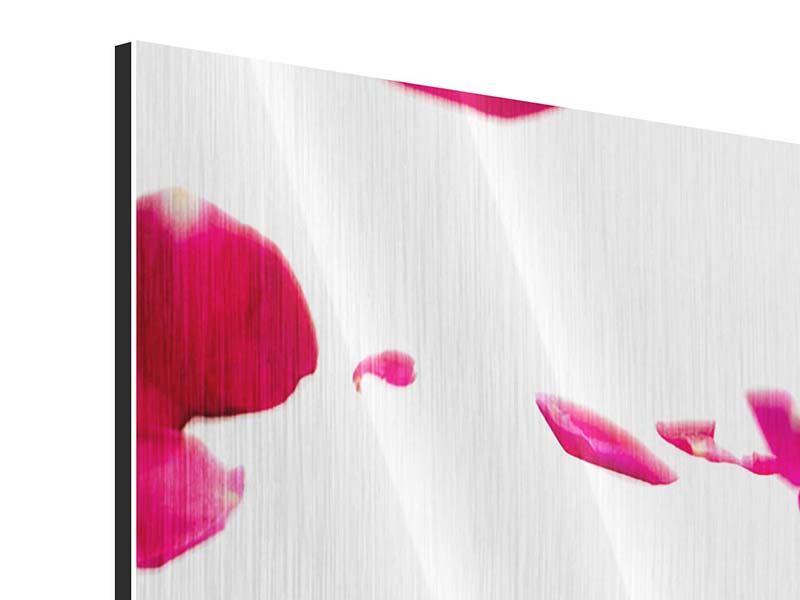 Metallic-Bild 5-teilig modern Für mich soll`s rote Rosen regnen
