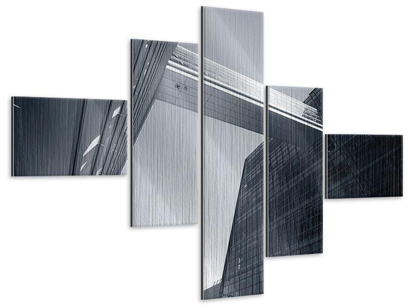 Metallic-Bild 5-teilig modern Der schwarze Diamant Kopenhagens