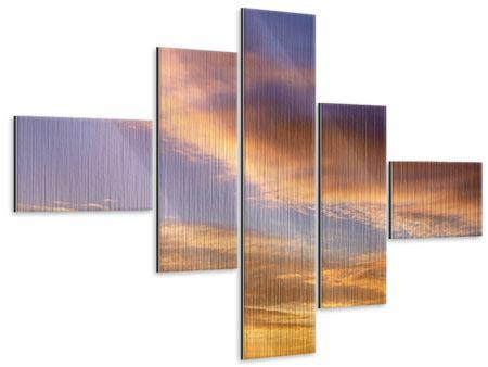 Metallic-Bild 5-teilig modern Himmlisch