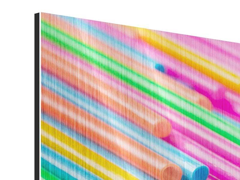 Metallic-Bild 5-teilig modern Pop Art