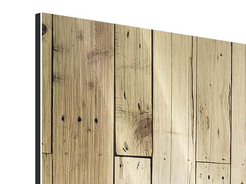 Metallic-Bild 5-teilig modern Holzpaneelen