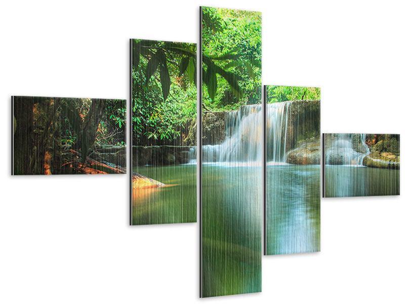 Metallic-Bild 5-teilig modern Element Wasser