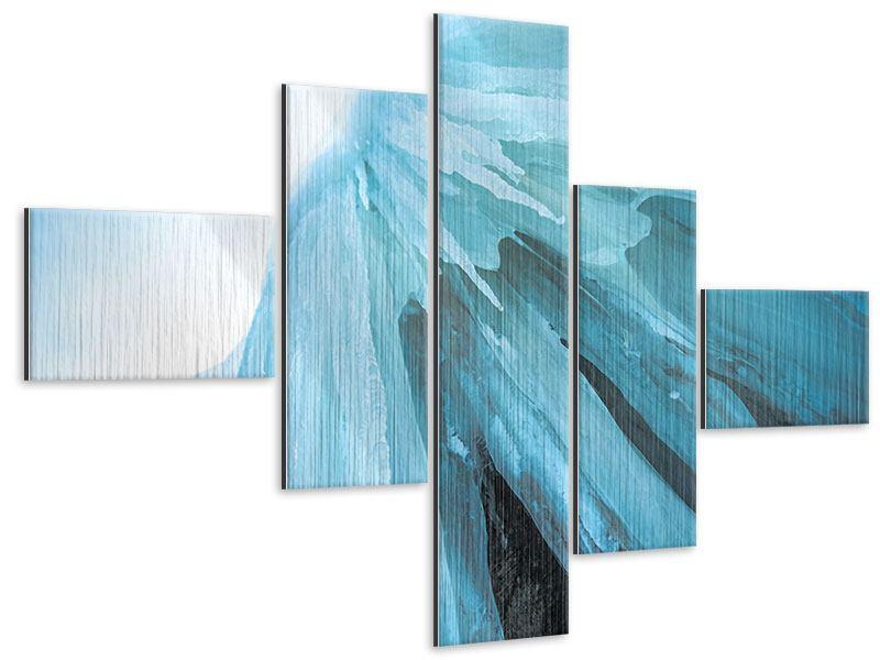 Metallic-Bild 5-teilig modern Die Eiswand