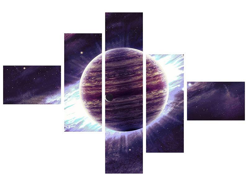 Metallic-Bild 5-teilig modern Sterngucker