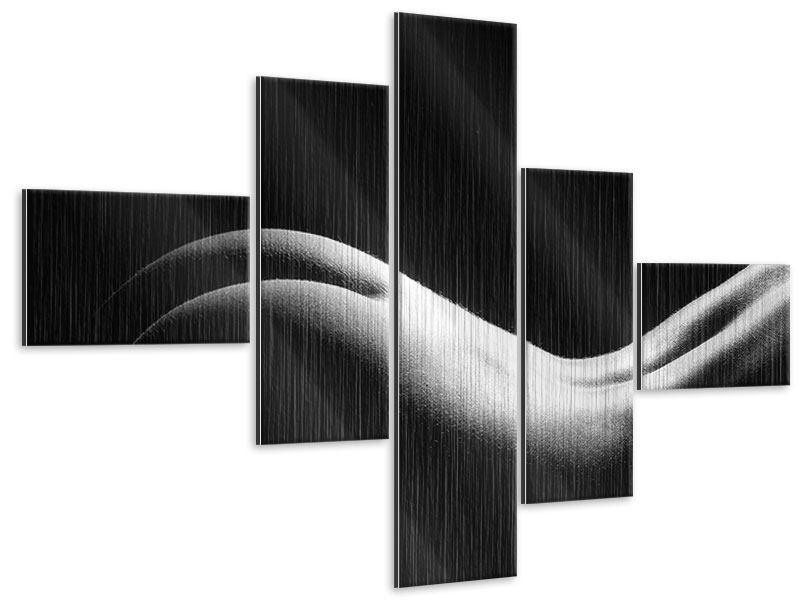 Metallic-Bild 5-teilig modern Nude