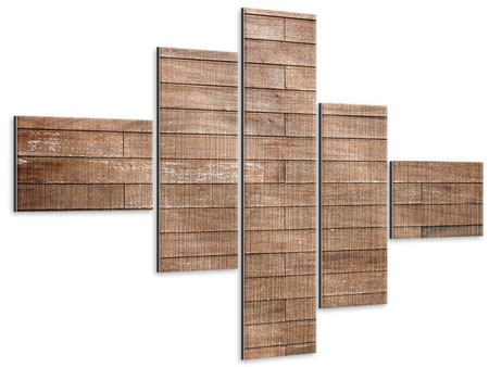 Metallic-Bild 5-teilig modern Walnuss-Paneele