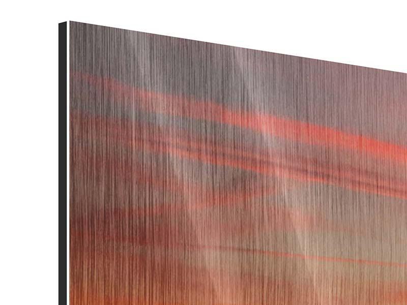 Metallic-Bild 5-teilig modern Der Sonnenuntergang