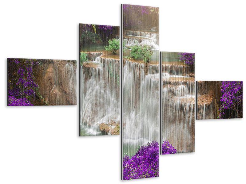 Metallic-Bild 5-teilig modern Garten Eden