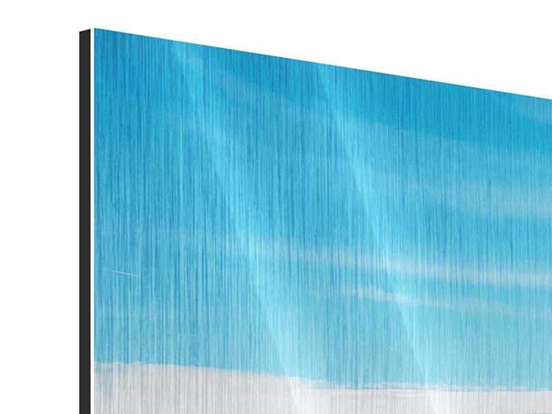 Metallic-Bild 5-teilig modern Alpenpanorama