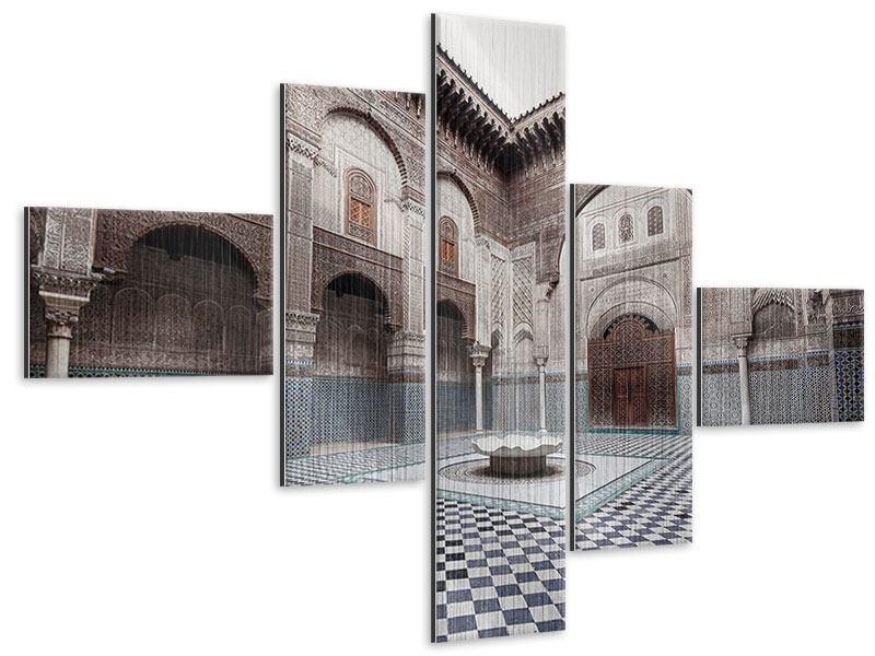 Metallic-Bild 5-teilig modern Orientalischer Hinterhof