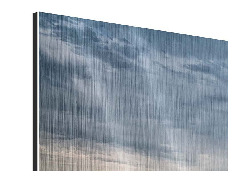 Metallic-Bild 5-teilig modern Skyline Manhattan