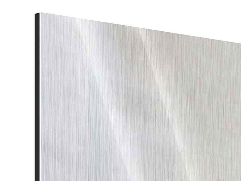 Metallic-Bild 5-teilig modern In einer Blüte