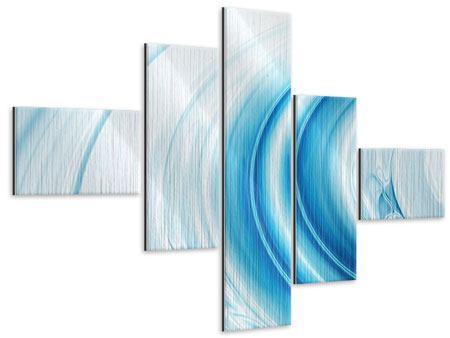 Metallic-Bild 5-teilig modern Abstraktes Glas
