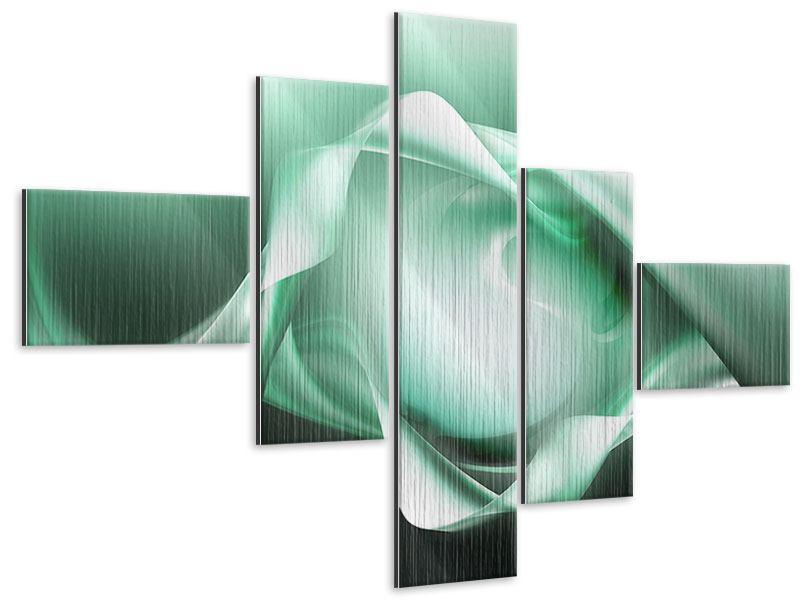 Metallic-Bild 5-teilig modern Abstrakt Tuchfühlung