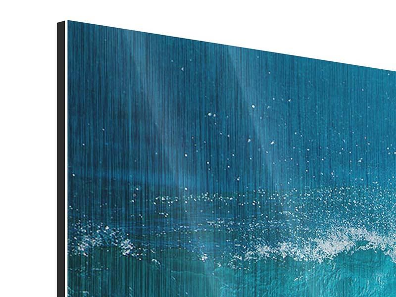 Metallic-Bild 5-teilig modern Die perfekte Welle