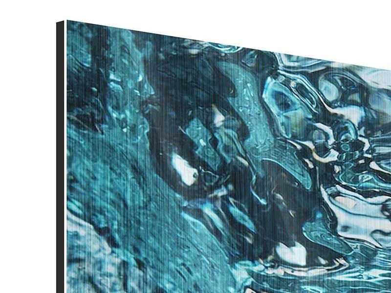 Metallic-Bild 5-teilig modern Schönheit Wasser