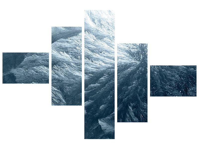 Metallic-Bild 5-teilig modern Eis