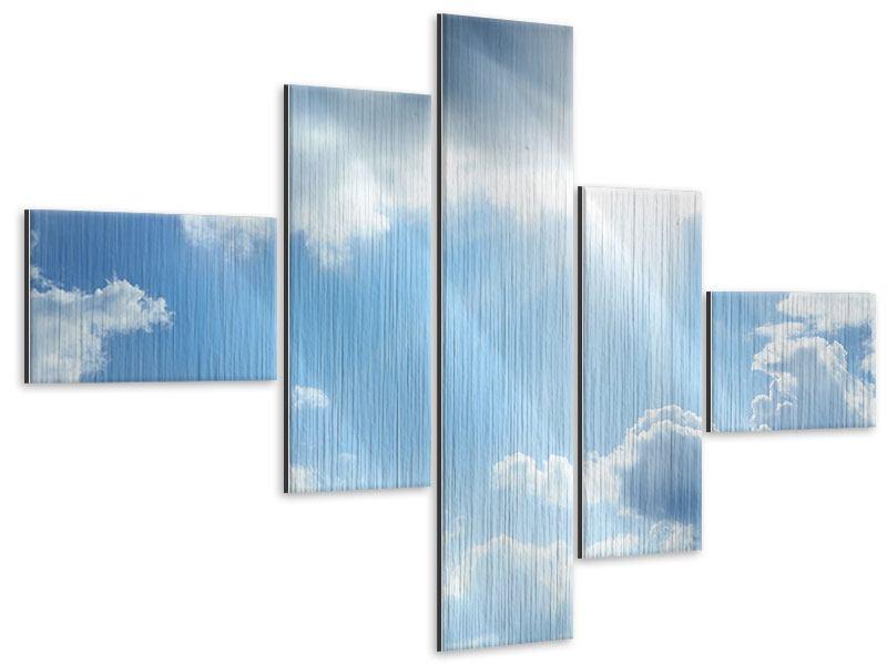 Metallic-Bild 5-teilig modern Himmelshoffnung