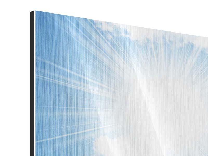Metallic-Bild 5-teilig modern Am Himmel