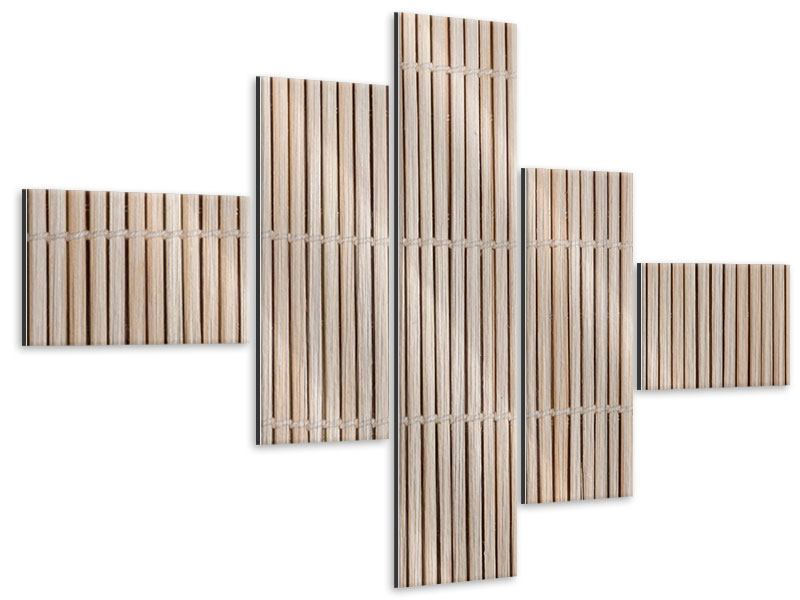 Metallic-Bild 5-teilig modern Lucky Bamboo