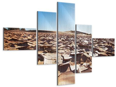 Metallic-Bild 5-teilig modern Dürre