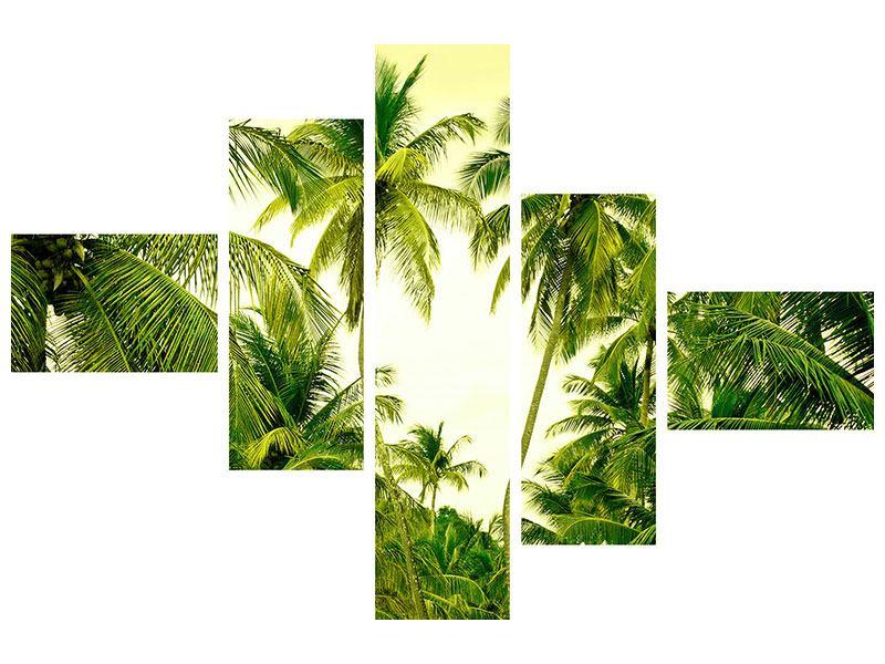 Metallic-Bild 5-teilig modern Reif für die Insel