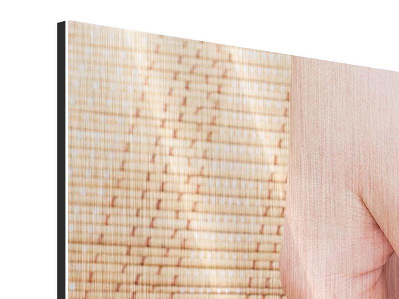 Metallic-Bild 5-teilig modern Schöne Füsse