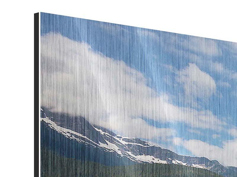Metallic-Bild 5-teilig modern Diablo Bergsee