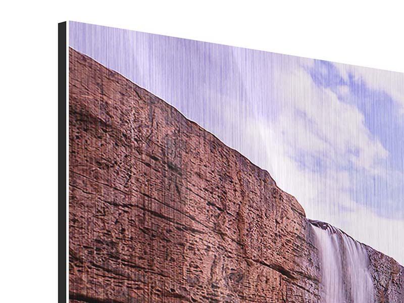 Metallic-Bild 5-teilig modern Himmlischer Wasserfall