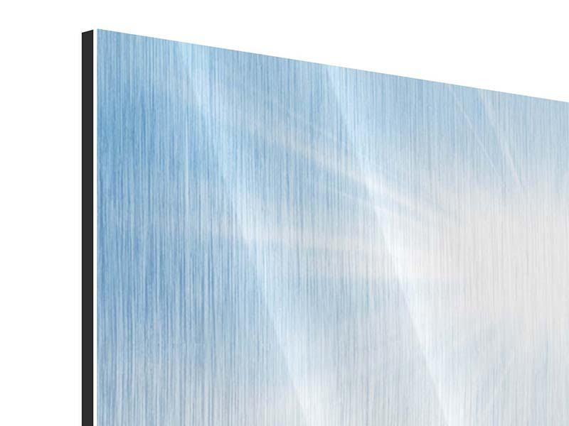 Metallic-Bild 5-teilig modern Wintermärchen
