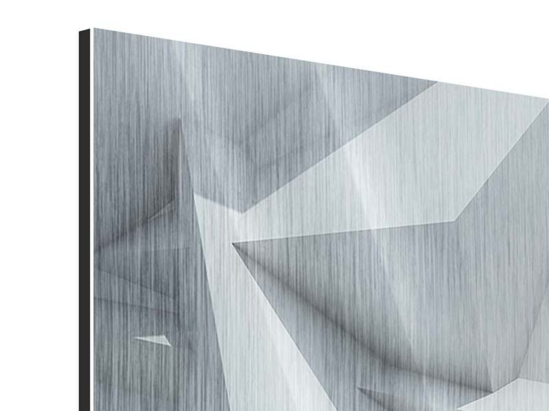 Metallic-Bild 5-teilig modern 3D-Kristallo
